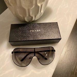 PRADA Womans Aviator Sunglasses